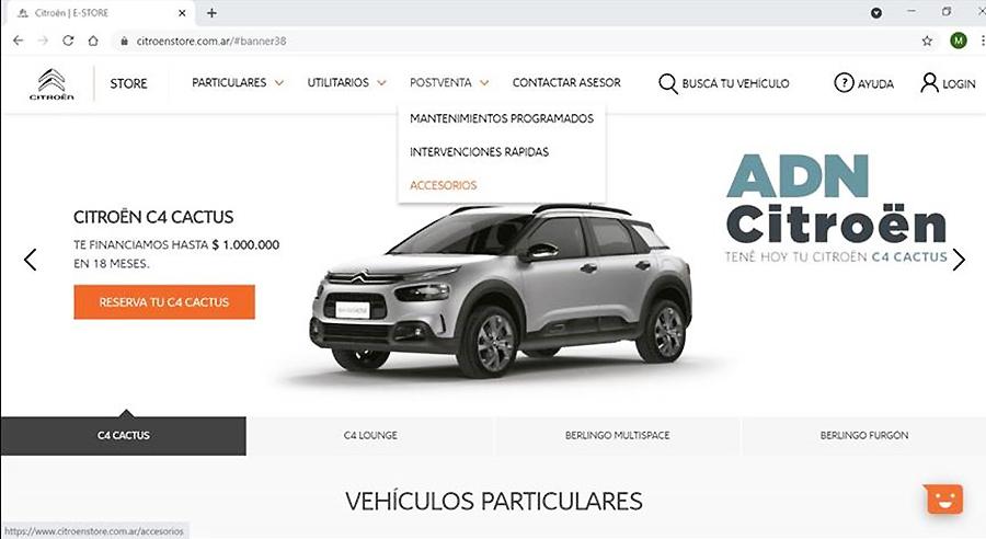 Citroën presenta su e-store de postventa