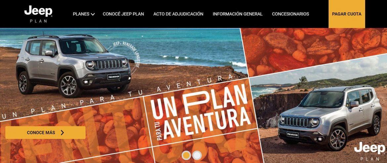Jeep Plan renueva su sitio web