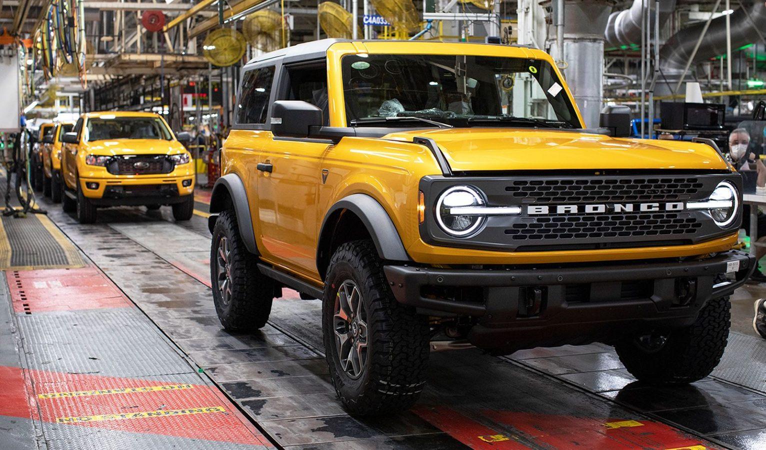 El Ford Bronco comenzó a ensamblarse en Estados Unidos