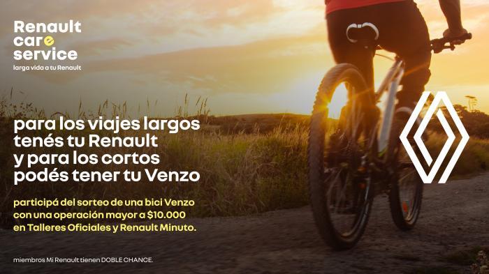 Renault sorteará 45 bicicletas Venzo entre sus clientes