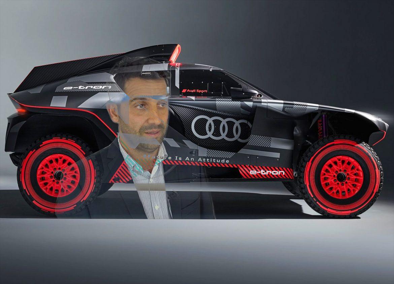 El argentino Juan Manuel Díaz diseñó el nuevo RS Q e-tron Dakar 2022