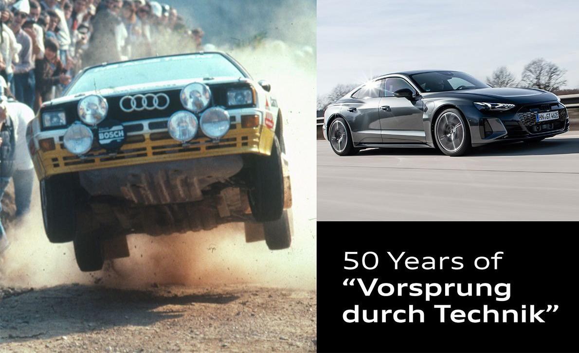 Audi celebra los 50 años de su eslogan «Vorsprung durch Technik»