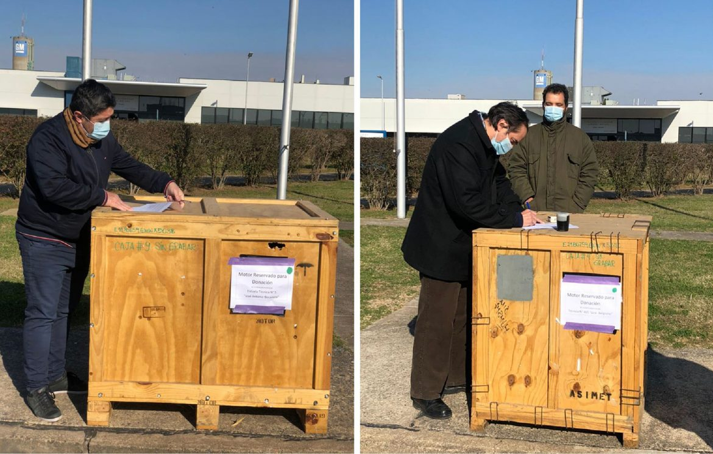GM realizó nuevas donaciones de motores no grabados para apoyar la formación técnica de jóvenes