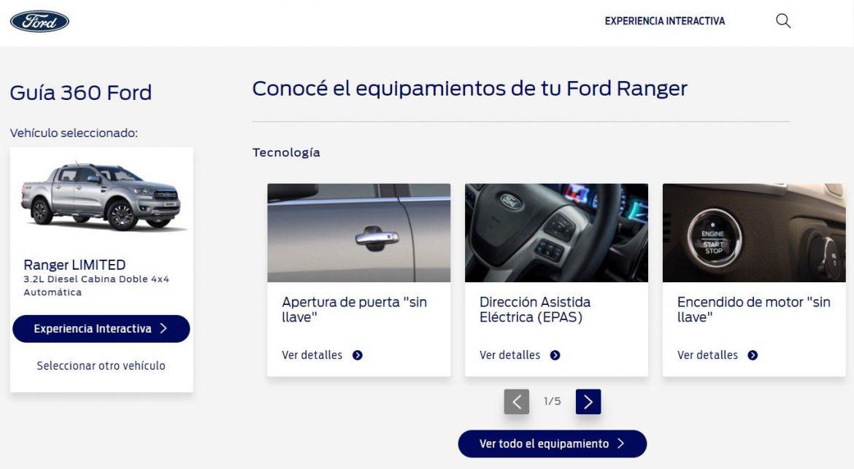 Ford lanzó la Guía360 para la Ranger, una experiencia interactiva para conocer a fondo la pick-up