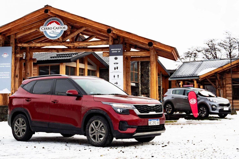 Los Kia Seltos y Sportage están este invierno en Cerro Castor