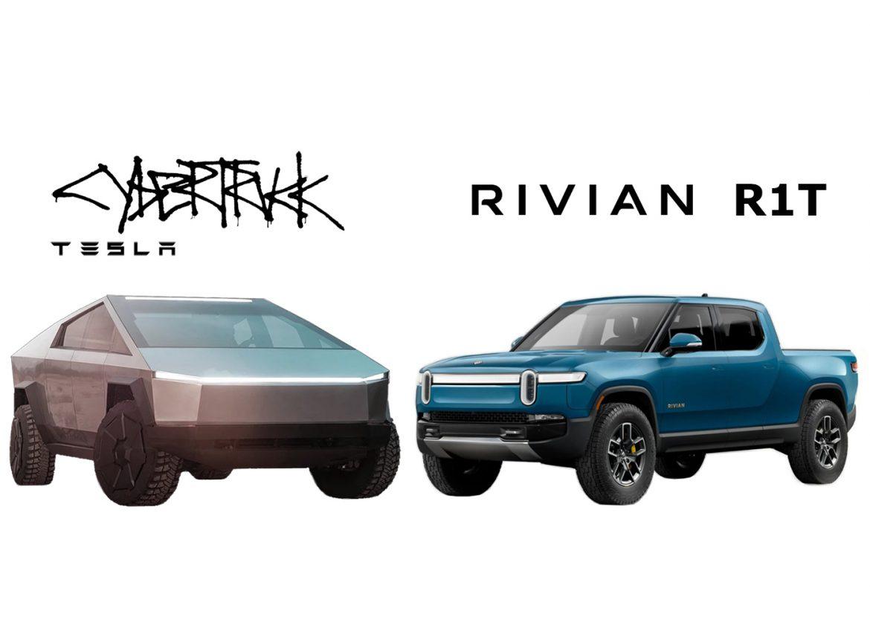 Pick-ups eléctricas: ¿En qué se diferencian la Tesla Cybertruck y el Rivian R1T?