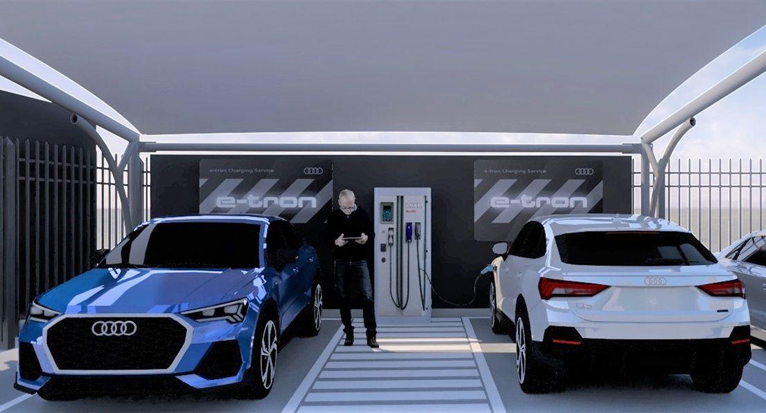 Audi inauguró en Argentina su red de carga rápida en sus concesionarios