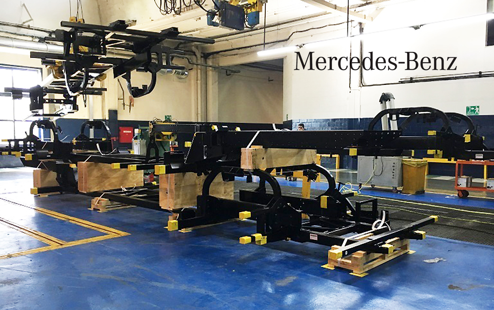 Mercedes-Benz exportó componentes de buses producidos en Argentina a Brasil
