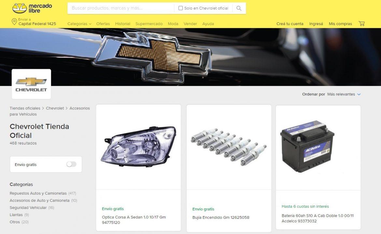 Chevrolet inauguró su Tienda Oficial de Repuestos en ExpoAuto virtual de Mercado Libre